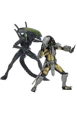 Alien vs. Predator Action Figure 2-Pack Battle Damaged Celtic vs Battle Damaged Grid 20-23 cm