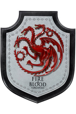 Game of Thrones Wall Plaque Targaryen House Crest 30 cm