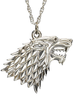 Game of Thrones Pendant & Necklace Stark Sigil (Sterling Silver)