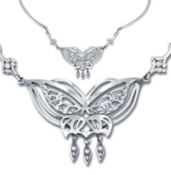 Lord of the Rings Necklace Arwen�s Butterfly (Sterling Silver)