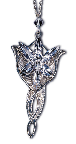 Lord of the Rings Pendant Arwen´s Evenstar (Sterling Silver)