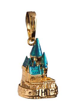 Harry Potter Bracelet Charm Lumos Hogwarts Castle gold