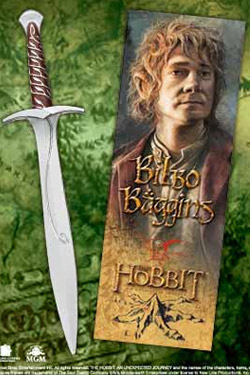The Hobbit An Unexpected Journey Pen & Bookmark Bilbo Baggin´s Sting Sword