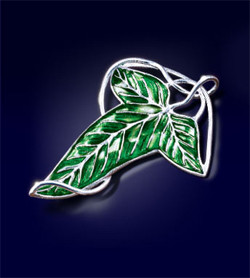 Lord of the Rings Brooch Elven Leaf Brooch (silver plated)