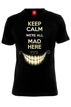 Alice in Wonderland T-Shirt Keep Calm Size XL