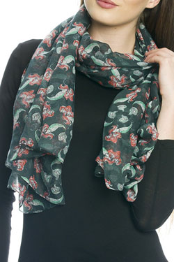 The Little Mermaid Scarf Bubbles