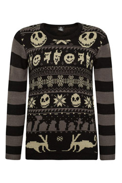Nightmare Before Christmas Ladies Knitted Sweater XMAS Size L