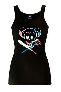 Suicide Squad Ladies Tank Top Skull Size L