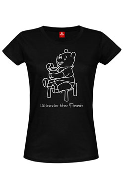 Winnie the Pooh Ladies T-Shirt Sketchy Pooh Size M