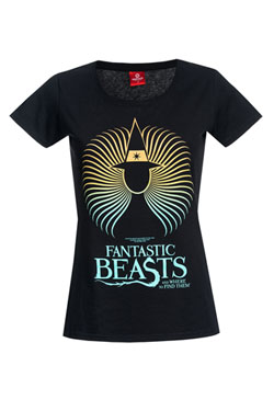 Fantastic Beasts Ladies T-Shirt Spiral Wizard Size M