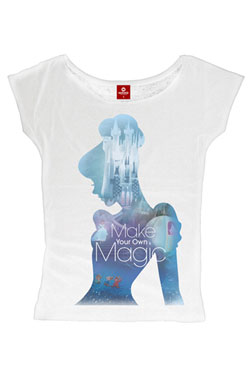 Cinderella Ladies T-Shirt Magic Girl Size M