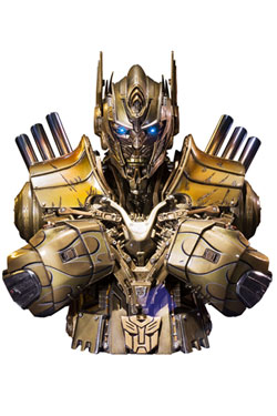 Transformers Age of Extinction Bust Optimus Prime Gold Version 18 cm