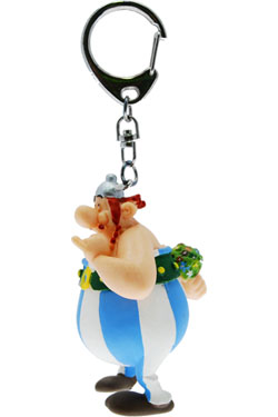 Asterix Keychain Obelix with Flowers 13 cm