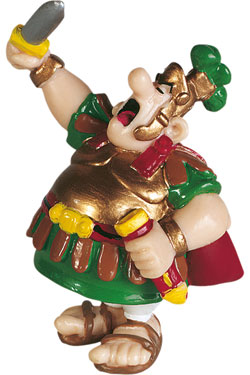 Asterix Figure The centurion with his sword 8 cm