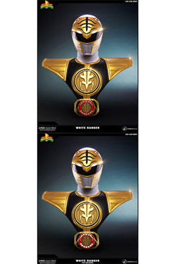 Power Rangers Busts 1/1 White Ranger & White Ranger PCS Exclusive Set 63 cm