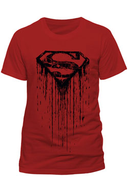 Superman T-Shirt Dripping Size S