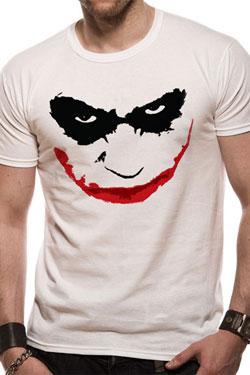 Batman The Dark Knight T-Shirt Joker Smile Outline Size S