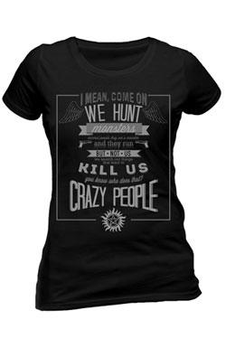 Supernatural Ladies T-Shirt Crazy People Size S