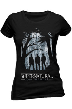 Supernatural Ladies T-Shirt Group Outline Size S