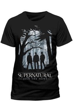 Supernatural T-Shirt Group Outline Size XL