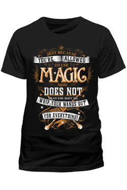 Harry Potter T-Shirt Magic Wands Size XL