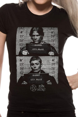 Supernatural Ladies T-Shirt Mug Shots Size L