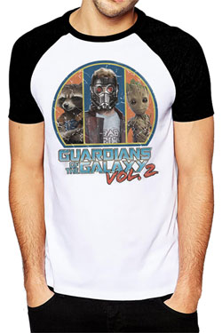 Guardians of the Galaxy 2 T-Shirt Retro Circle Size M