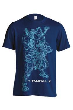 Titanfall 2 T-Shirt Titan BT Line Art Size S