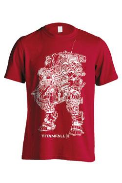 Titanfall 2 T-Shirt Titan Scorch Line Art Size XL