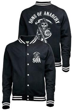 Sons of Anarchy Baseball Varsity Jacket Classic Size M