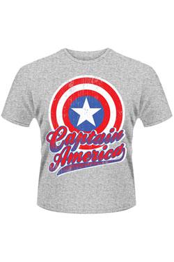Avengers Assemble T-Shirt Captain America Colour Shield Size S