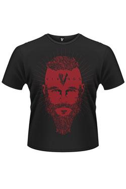 Vikings T-Shirt Ragnar Face Size L