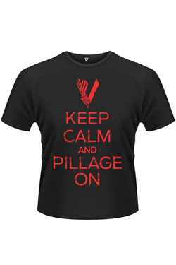 Vikings T-Shirt Keep Calm And Pillage On Size XL