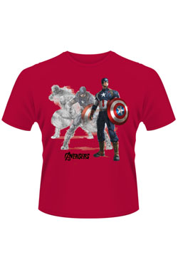 Avengers Age Of Ultron T-Shirt Captain America Draw Size XL