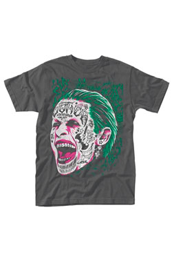 Suicide Squad T-Shirt Joker Tattooed Face Size S