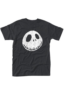Nightmare Before Christmas T-Shirt Cracked Face Size L