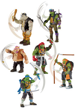 Teenage Mutant Ninja Turtles Out of the Shadows Deluxe Action Figures w/ sound 14 cm Assortment (8)