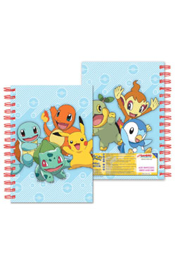 Pokemon Notebook A5 Starters