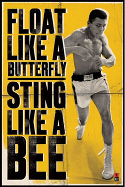 Muhammad Ali Poster Pack Float Like A Butterfly 61 x 91 cm (5)