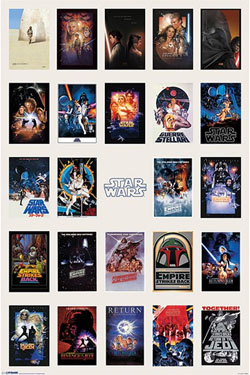Star Wars Poster  One Sheet Collage 61 x 91 cm