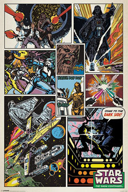 Star Wars Poster  Retro Comic 61 x 91 cm