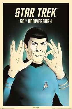 Star Trek 50th Anniversary Poster Pack Spock 5-0 61 x 91 cm (5)