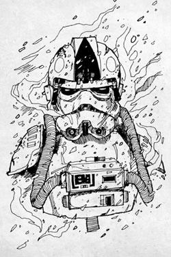 Star Wars Metal Poster Trooper Pilot 32 x 45 cm