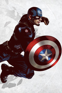 Marvel Comics Metal Poster Captain America 32 x 45 cm