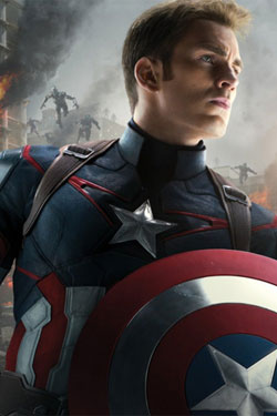 Marvel Comics Metal Poster Captain America AoU 32 x 45 cm