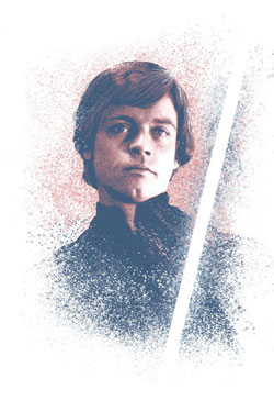 Star Wars Metal Poster Successors Collection Luke Skywalker 32 x 45 cm