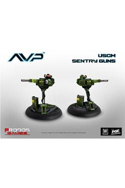 Alien Vs Predator Board Game The Hunt Begins Expansion Pack Sentry Guns *English Version*