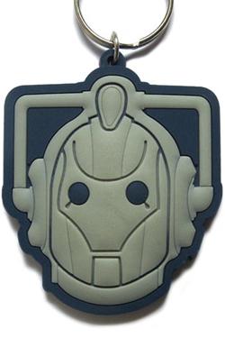 Doctor Who Rubber Keychain Cyberman 6 cm