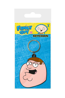 Family Guy Rubber Keychain Peter Face 6 cm