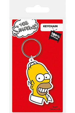 Simpsons Rubber Keychain Homer Simpson 6 cm